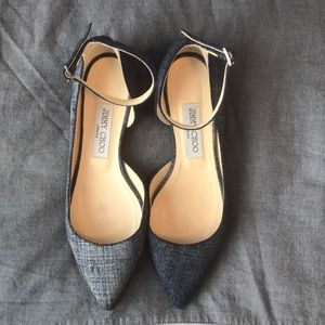 Jimmy Choo Denim Romy flats